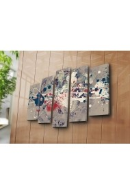 Tablou decorativ (5 bucati) Canvart 249CVT1266 multicolor