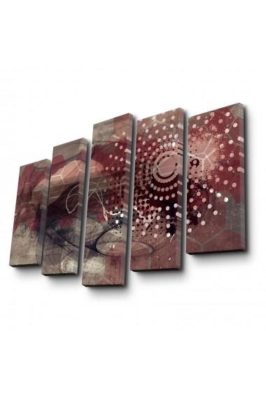 Tablou decorativ (5 bucati) Canvart 249CVT1267 multicolor