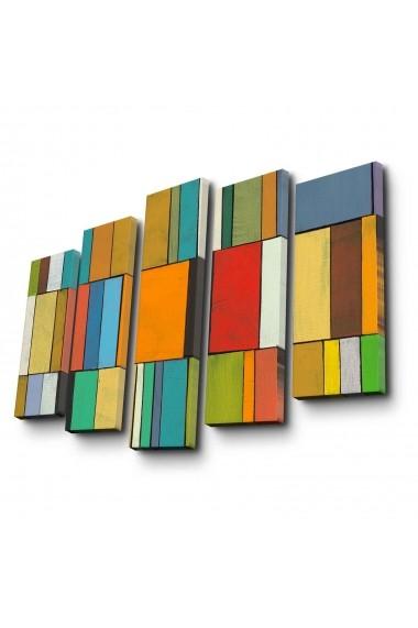 Tablou decorativ (5 bucati) Canvart 249CVT1269 multicolor