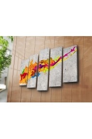 Tablou decorativ (5 bucati) Canvart 249CVT1271 multicolor