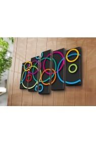 Tablou decorativ (5 bucati) Canvart 249CVT1276 multicolor