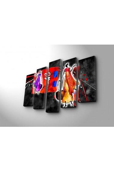 Tablou decorativ (5 bucati) Canvart 249CVT1278 multicolor