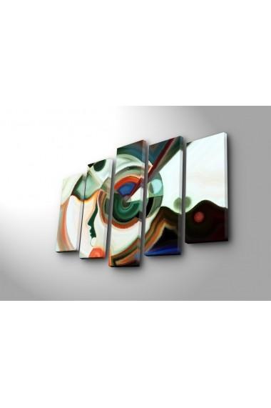 Tablou decorativ (5 bucati) Canvart 249CVT1281 multicolor