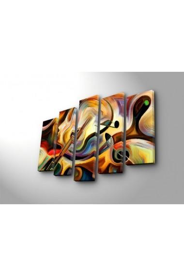 Tablou decorativ (5 bucati) Canvart 249CVT1282 multicolor