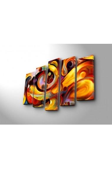 Tablou decorativ (5 bucati) Canvart 249CVT1286 multicolor
