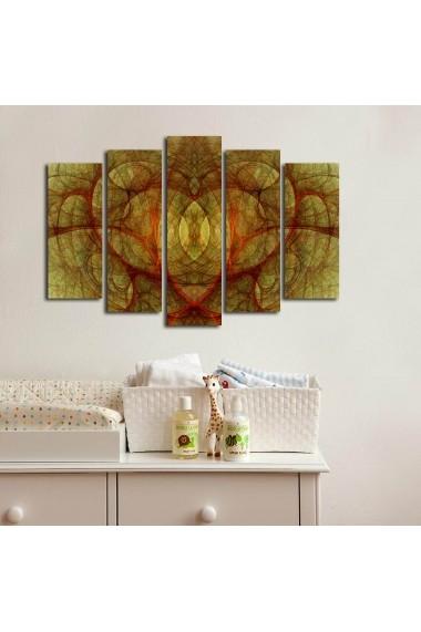 Tablou decorativ (5 bucati) Canvart 249CVT1298 multicolor