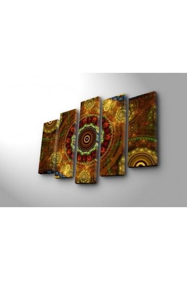 Tablou decorativ (5 bucati) Canvart 249CVT1299 multicolor