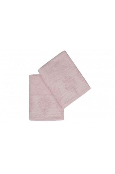 Set 2 prosoape pentru maini Soft Kiss 330SFT1244 Roz
