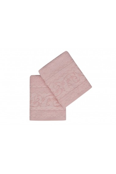 Set 2 prosoape pentru maini Soft Kiss 330SFT1276 Roz