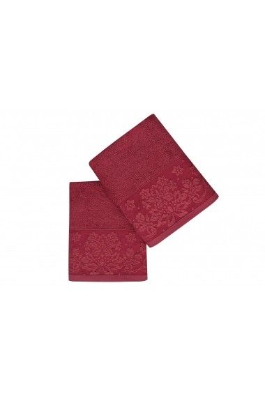 Set 2 prosoape pentru maini Soft Kiss 330SFT2217 Bordo