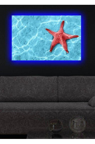 Tablou din panza, cu lumina LED Suoq Design 239SHN1292 Multicolor