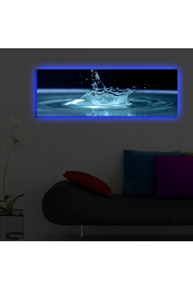 Tablou din panza, cu lumina LED Suoq Design 239SHN3265 Multicolor