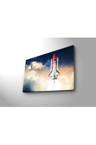 Tablou din panza, cu lumina LED Suoq Design 239SHN4302 Multicolor