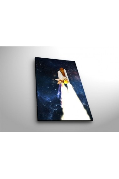 Tablou din panza, cu lumina LED Suoq Design 239SHN4305 Multicolor
