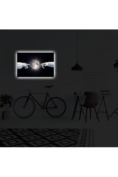 Tablou din panza, cu lumina LED Suoq Design 239SHN4307 Multicolor
