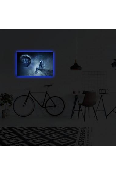 Tablou din panza, cu lumina LED Suoq Design 239SHN4308 Multicolor