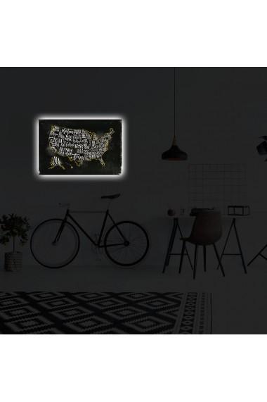 Tablou din panza, cu lumina LED Suoq Design 239SHN4310 Multicolor