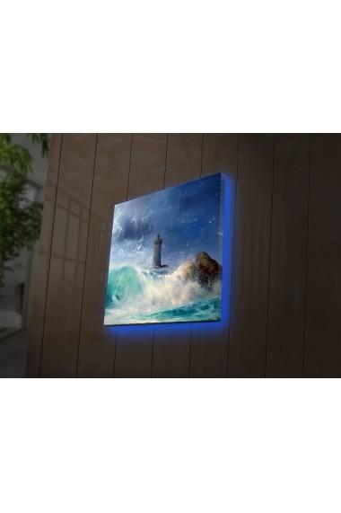 Tablou din panza, cu lumina LED Suoq Design 239SHN4253 Multicolor