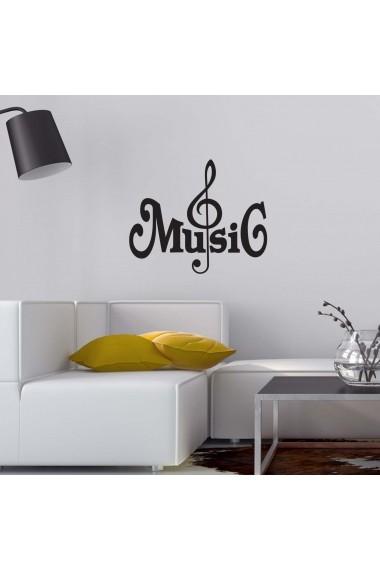 Sticker decorativ de perete Sticky 260CKY5050 Negru