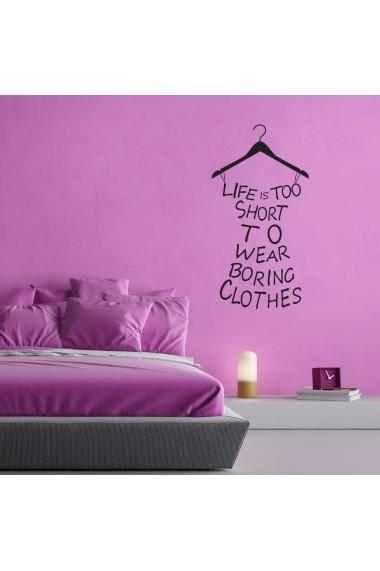 Sticker decorativ de perete Sticky 260CKY1016 Negru