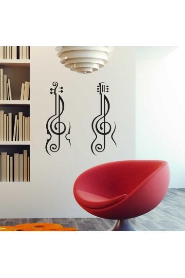 Sticker decorativ de perete Sticky 260CKY1060 Negru