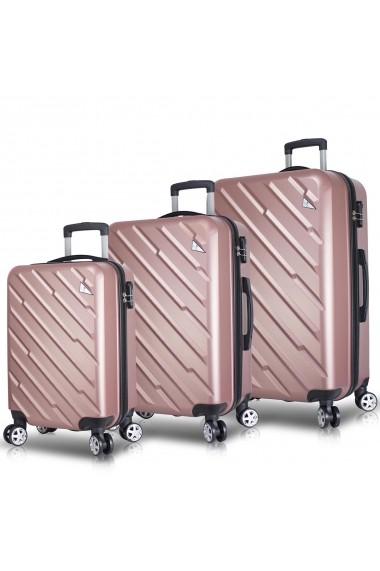 Set 3 trolere Myvalice 853MYV4106 roz