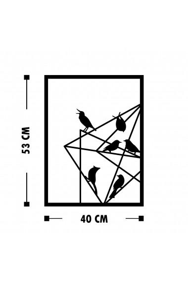 Accesoriu decorativ din metal Tanelorn 891TNL1830 negru