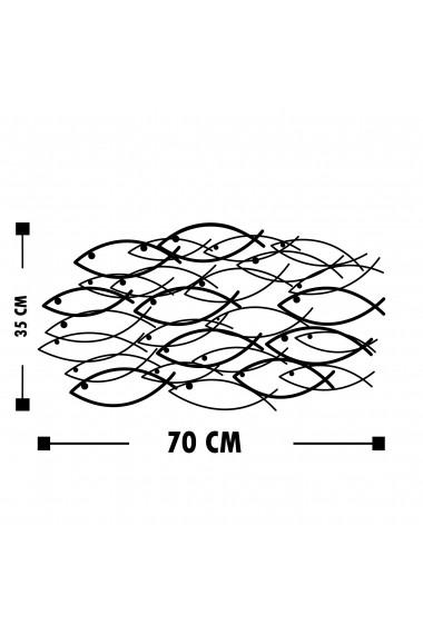Accesoriu decorativ din metal Tanelorn 891TNL1828 negru