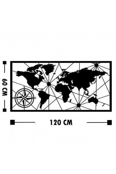 Accesoriu decorativ din metal Tanelorn 891TNL1760 negru