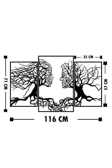 Accesoriu decorativ din metal Tanelorn 891TNL1827 negru