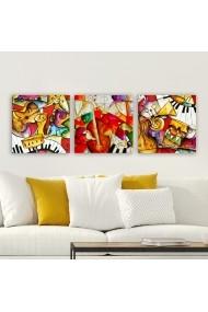 Tablou decorativ din panza (set 3 bucati) Remy 564RMY1102 multicolor