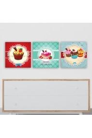 Tablou decorativ din panza (set 3 bucati) Remy 564RMY1103 multicolor