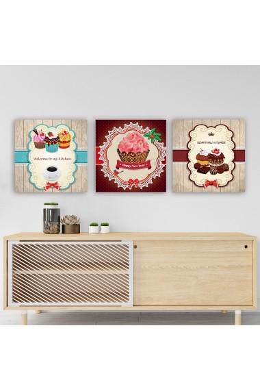 Tablou decorativ din panza (set 3 bucati) Remy 564RMY1104 multicolor