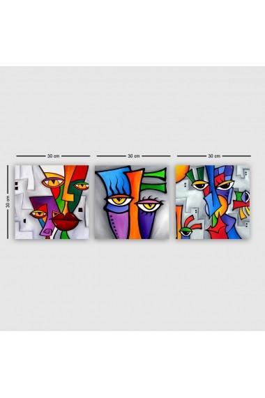 Tablou decorativ din panza (set 3 bucati) Remy 564RMY1106 multicolor