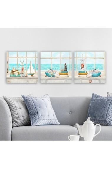 Tablou decorativ din panza (set 3 bucati) Remy 564RMY1115 multicolor