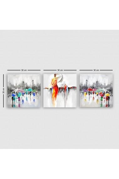 Tablou decorativ din panza (set 3 bucati) Remy 564RMY1119 multicolor