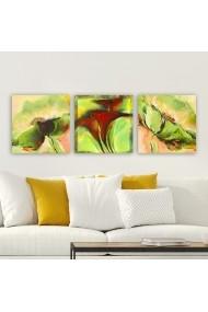 Tablou decorativ din panza (set 3 bucati) Remy 564RMY1122 multicolor