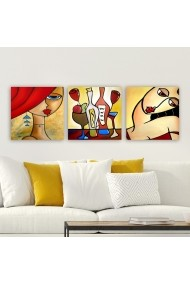 Tablou decorativ din panza (set 3 bucati) Remy 564RMY1123 multicolor