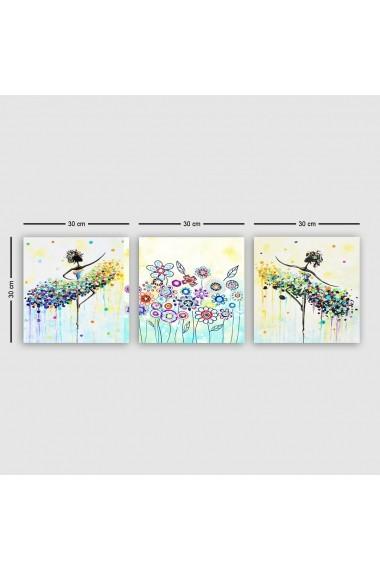 Tablou decorativ din panza (set 3 bucati) Remy 564RMY1124 multicolor