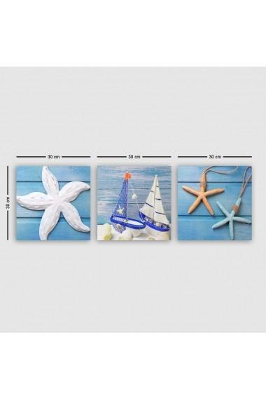 Tablou decorativ din panza (set 3 bucati) Remy 564RMY1129 multicolor