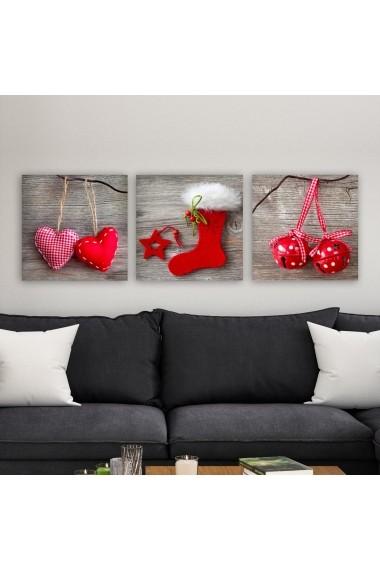 Tablou decorativ din panza (set 3 bucati) Remy 564RMY1135 multicolor