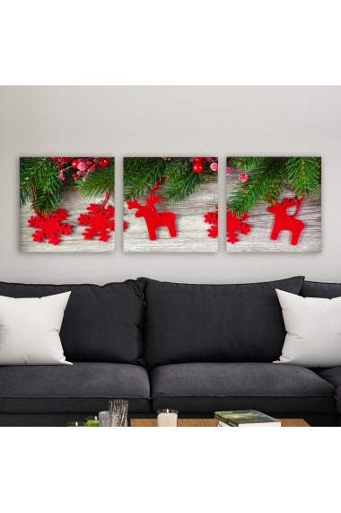 Tablou decorativ din panza (set 3 bucati) Remy 564RMY1136 multicolor