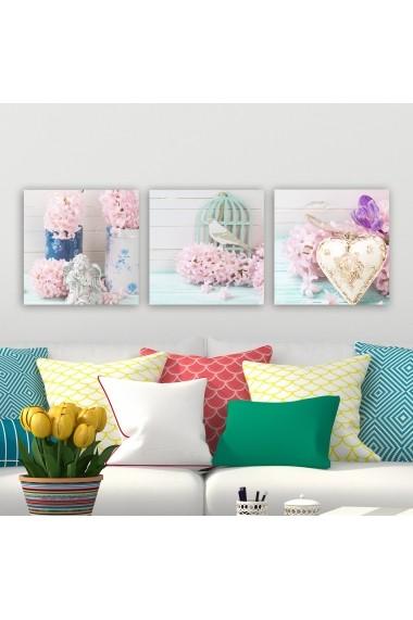 Tablou decorativ din panza (set 3 bucati) Remy 564RMY1147 multicolor