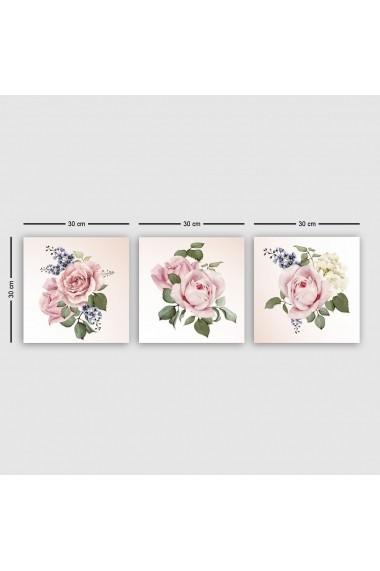 Tablou decorativ din panza (set 3 bucati) Remy 564RMY1151 multicolor