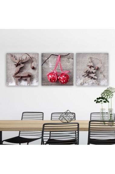 Tablou decorativ din panza (set 3 bucati) Remy 564RMY1152 multicolor