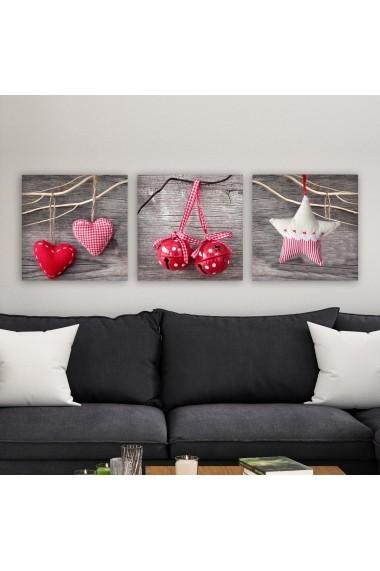 Tablou decorativ din panza (set 3 bucati) Remy 564RMY1153 multicolor