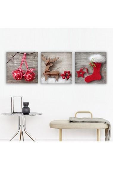 Tablou decorativ din panza (set 3 bucati) Remy 564RMY1154 multicolor