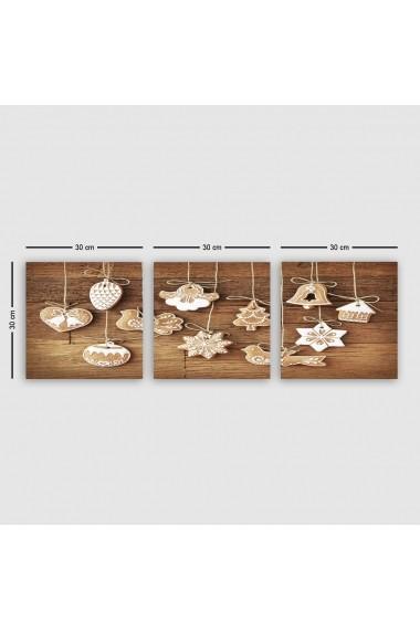 Tablou decorativ din panza (set 3 bucati) Remy 564RMY1156 multicolor
