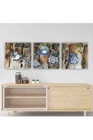 Tablou decorativ din panza (set 3 bucati) Remy 564RMY1157 multicolor
