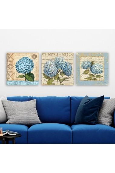 Tablou decorativ din panza (set 3 bucati) Remy 564RMY1158 multicolor